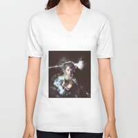 dark side of the moon V-neck T-shirts featuring dark side of the moon - old man by Ahmet Hacıoğlu