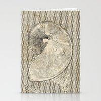 seashell Stationery Cards featuring SEASHELL by Mary Szulc