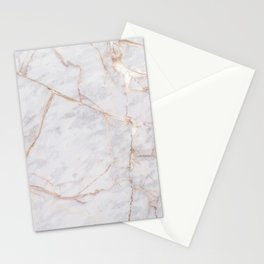 White Italian Marble & Gold Stationery Cards