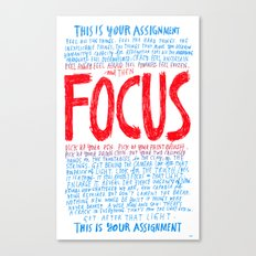 FOCUS 2017, by Courtney Martin and Wendy MacNaughton Canvas Print