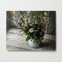 July Bouquet Metal Print