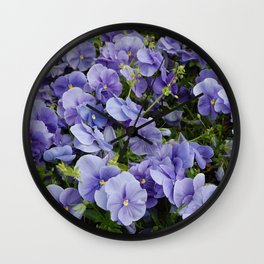 Pansy flower Wall Clock