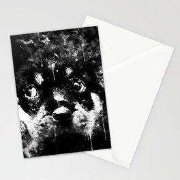 rottweiler puppy dog ws bw Stationery Cards