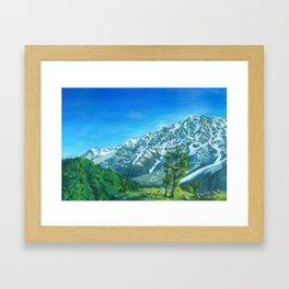 Himalaya mountains Framed Art Print