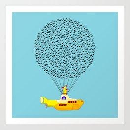 Musical Yellow Submarine Art Print