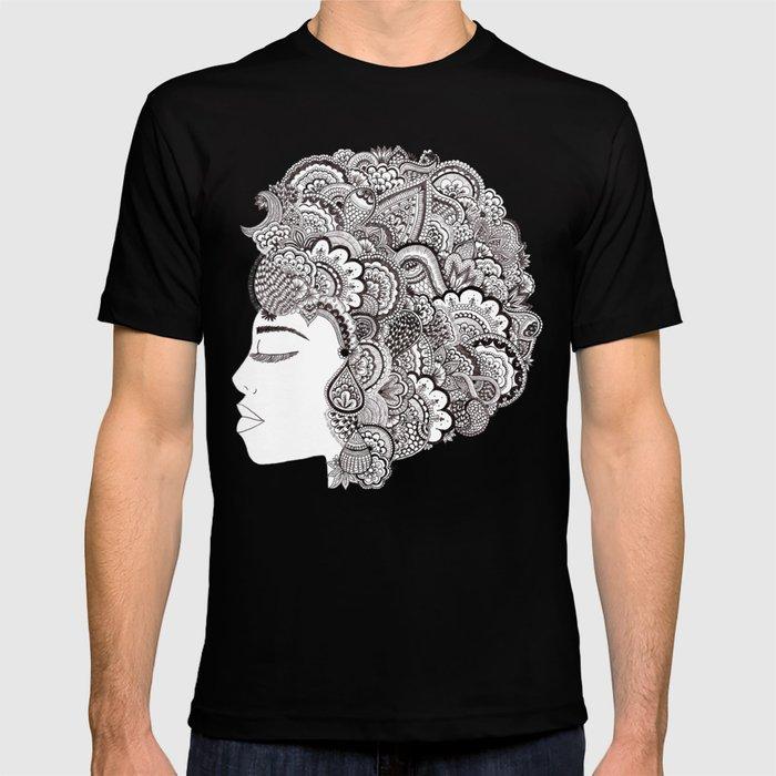 her hair T-shirt