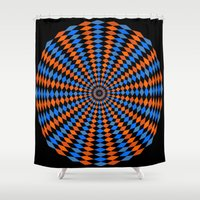 bender Shower Curtains featuring Abstract Mind Bender  by Gabriel J Galvan