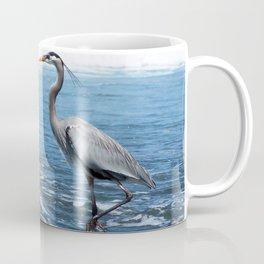 Great Blue Heron on the Pacific Coast in Costa Rica Coffee Mug