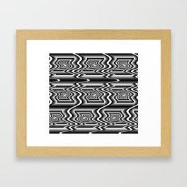 Grey Optical Pattern Framed Art Print