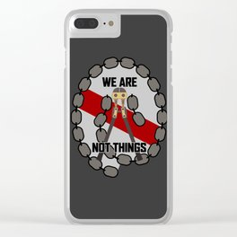 Bolt Cutter (Reverse Colorway) Clear iPhone Case