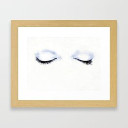 Woman's eyelashes fashion illustration Framed Art Print