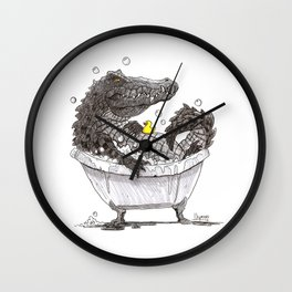 Bubble Bath (Pen & Ink) Wall Clock