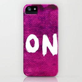 Don`t (Grunge Version) iPhone Case