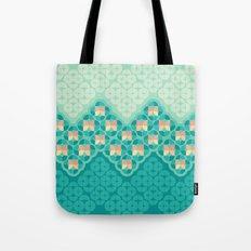 Blue Garden Pattern Tote Bag
