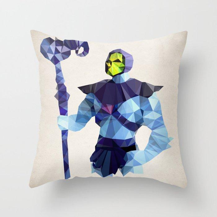 Polygon Heroes - Skeletor Throw Pillow
