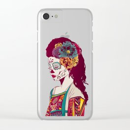Mexican Skull Lady Clear iPhone Case