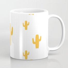 Mustard Cactus Pattern Coffee Mug