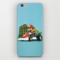 mario kart iPhone & iPod Skins featuring Super Mario: the homecoming by josemanuelerre