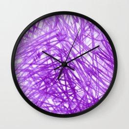Ophelia Purple Wall Clock