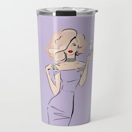 Fashion Blonde with champagne #3 Travel Mug