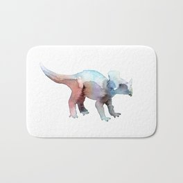 Triceratops / Abstract animal portrait. Bath Mat