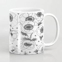 oana befort Mugs featuring Anemone by Oana Befort