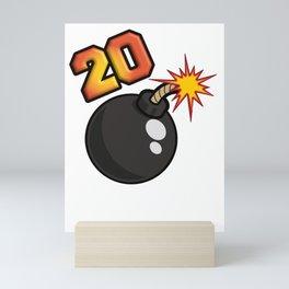 20 Bomb Mini Art Print