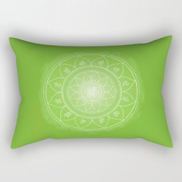 ANAHATA Boho mandala Rectangular Pillow