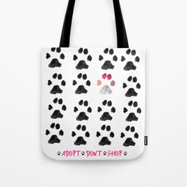 Adopt. Dont. Shop. Typography Tote Bag