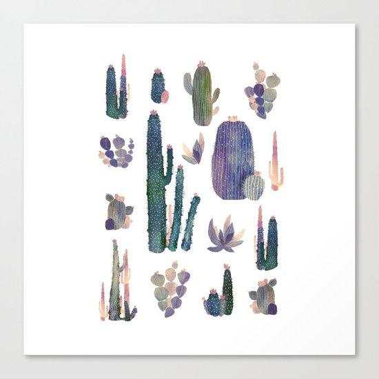 cactus collab franciscomff Canvas Print