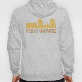 Retro Fort Wayne Indiana Skyline Hoody