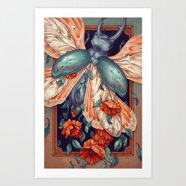 Moth Beetle Art Print