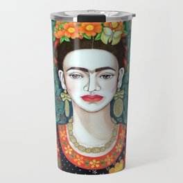Frida, queen of hearts closer II Travel Mug