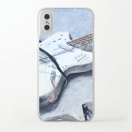 rock n roll guitar Clear iPhone Case