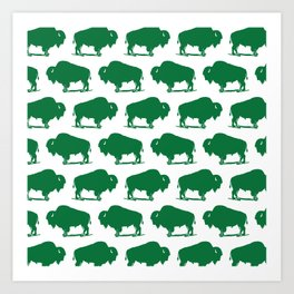 Buffalo Bison Pattern 284 Art Print
