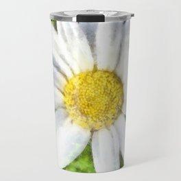 Radiant Daisy Watercolor Travel Mug