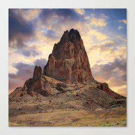 Monolith Sunset - American Southwestern Landscape - Square Format Canvas Print