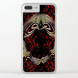 8744-KMA Rear View Feet Legs Thighs Vulva Abstracted Zebra Woman Maher Clear iPhone Case