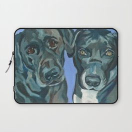 Emily and Annabel Dog Portrait Laptop Sleeve