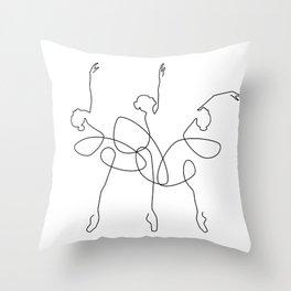Ballet x 3 Throw Pillow