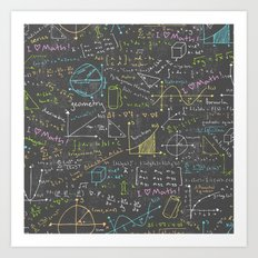 Math Lessons Art Print