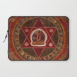 Vajrayogini stands in the center of two crossed red triangles Laptop Sleeve