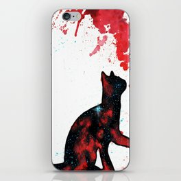 Red Space Cat iPhone Skin