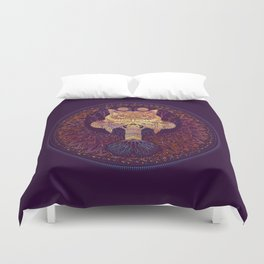 Owl Mandala Duvet Cover