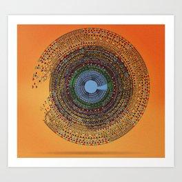 Aztec Candy Art Print