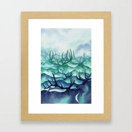Herding Mountains Framed Art Print