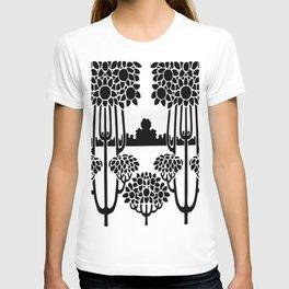 nouveau stencil repeating border T-shirt