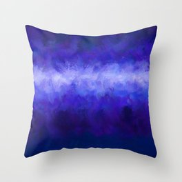 Blue Energy Abstract Throw Pillow