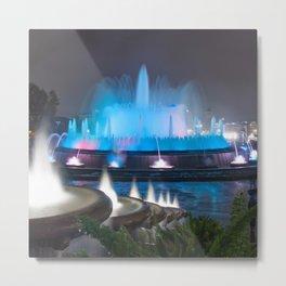 Montjuic Magic Fountain - Barcelona Metal Print