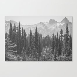 Escape to the Wilds - Black and White Nature Photography Canvas Print